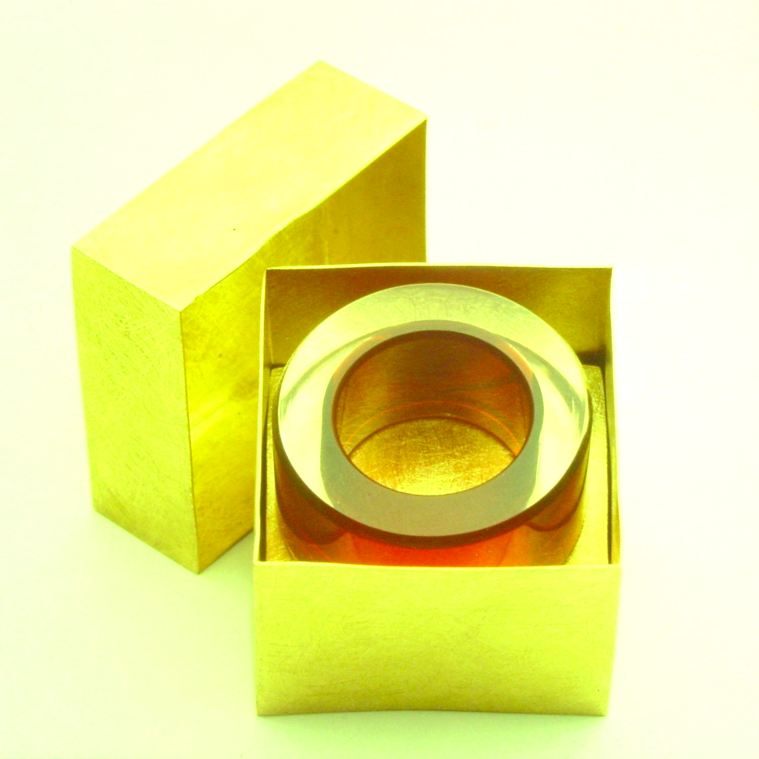 red ring in gold box